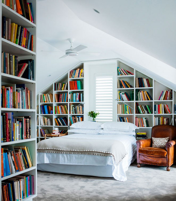small library design ideas in the bedroom - inspirationseek