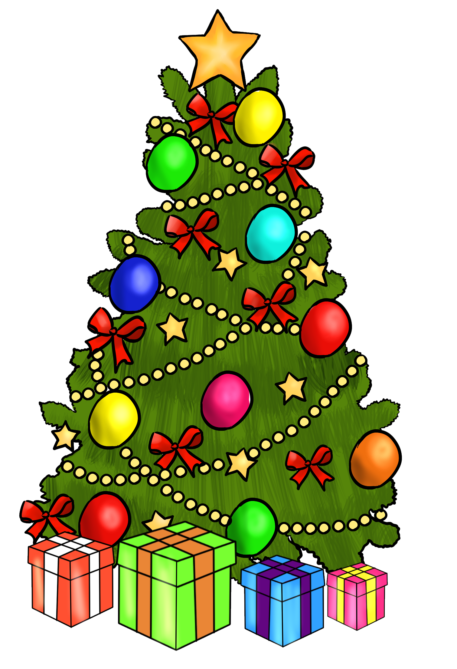 Christmas Tree Clip Art_02
