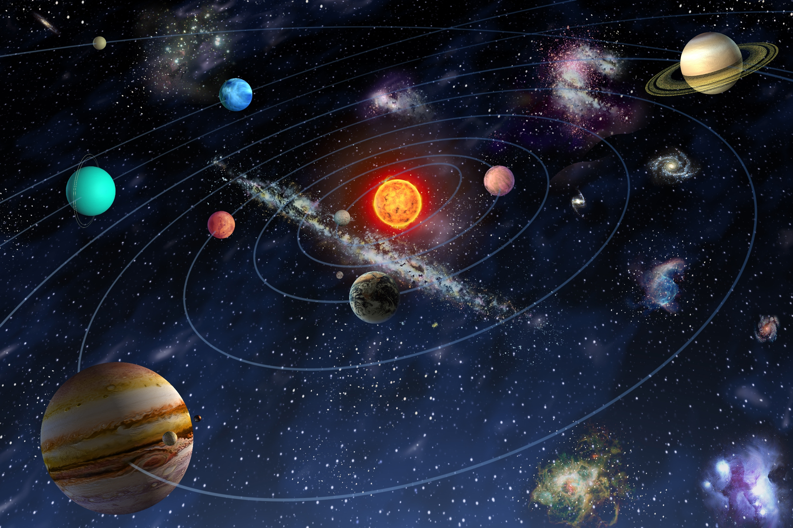Planets System Order Asteroid And Solar Belt