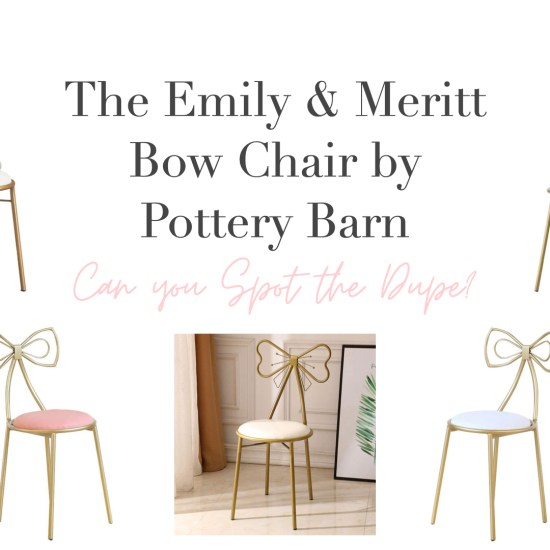 The Emily & Meritt Bow Chair By Pottery Barn Dupe