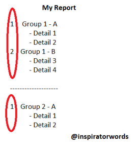 Show Row Number in RDLC Report
