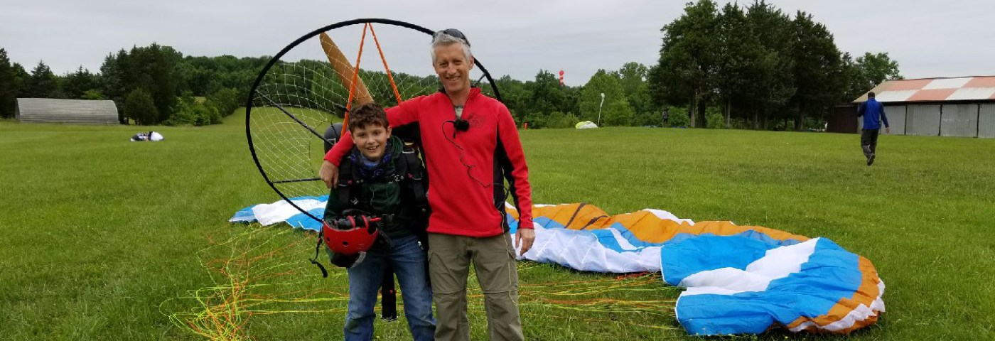 Henry Scott – Powered Paraglider Solo Milestone