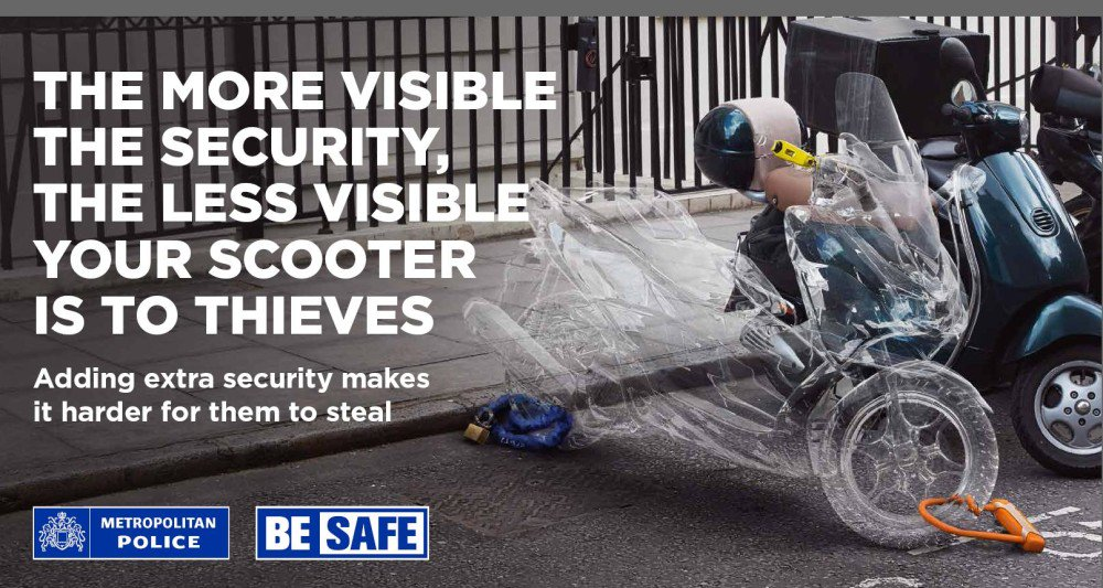 Visible security makes your bike less visible to thieves