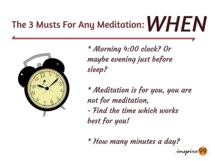 best time to meditate, best ways of meditation, when to meditate, when is the best time to meditate