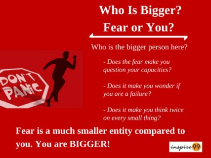 big fear, how to face big fear