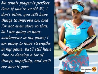 no one is perfect quote, sania mirza quote on perfection, sania mirza real life quote and meaning