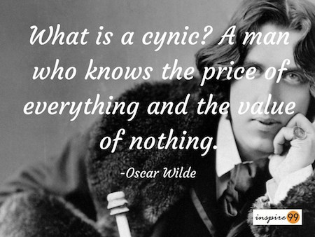 oscar wilde cynic meaning, what is a cynic oscar wilde, oscar wilde quote collection,