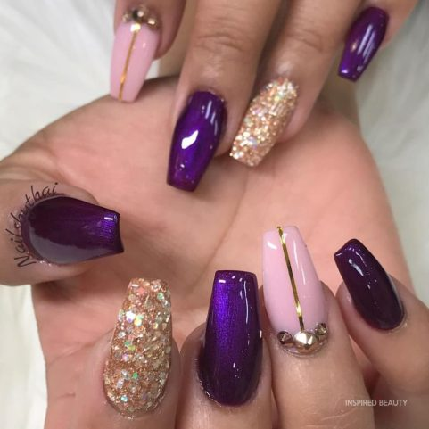Elegant mix of purple and other colors