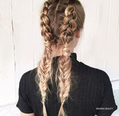 cute winter hairstyle braids