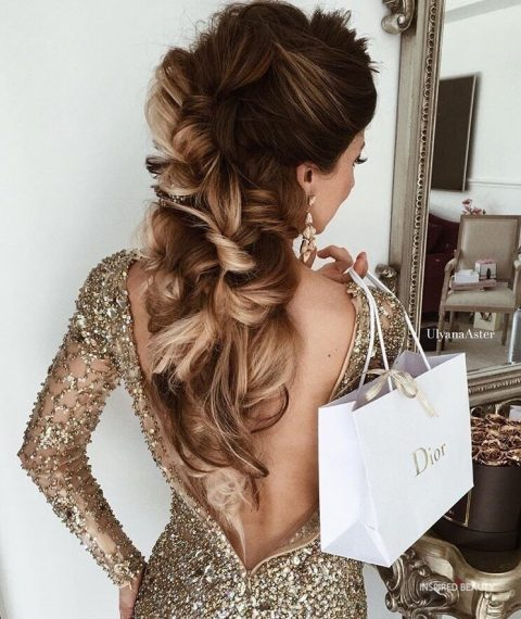Elegant winter hairstyle