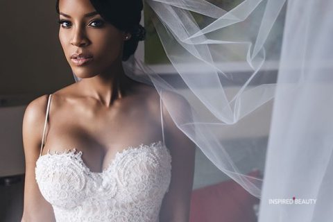 black women wedding hairstyles with veil