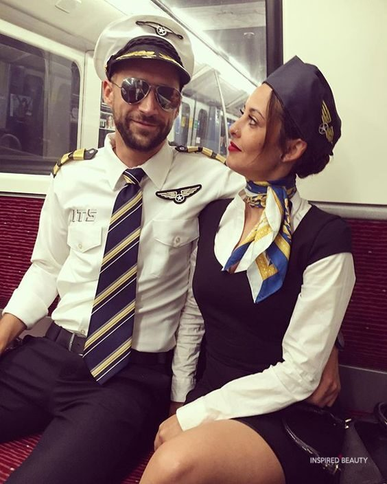 pilot and flight attendant Halloween costumes