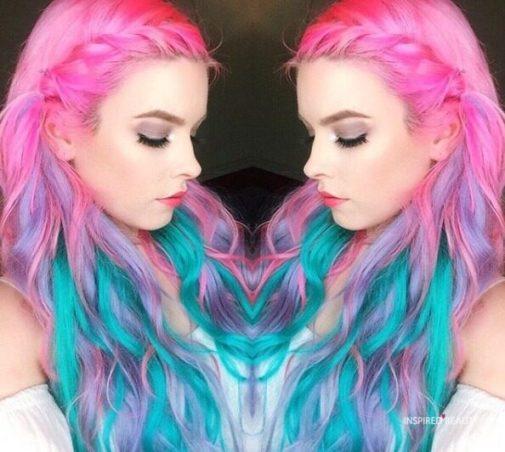Mermaid Hair with pink