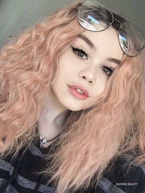pink rose hair