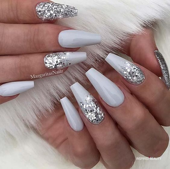 21 Acrylic Nail Coffin Designs , Inspired Beauty