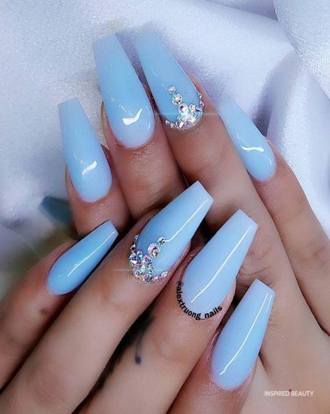 coffin acrylic nail designs