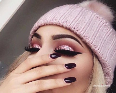Pink Beautiful eyes makeup