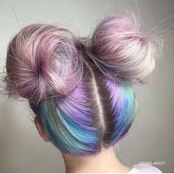 tumblr hairstyle with double bun