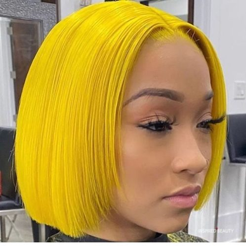 yellow hair color for dark skin