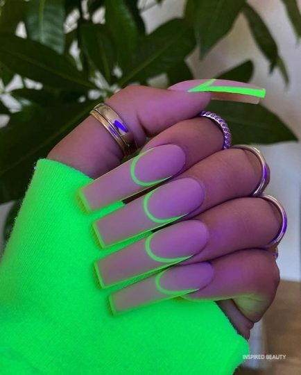 two color nail design