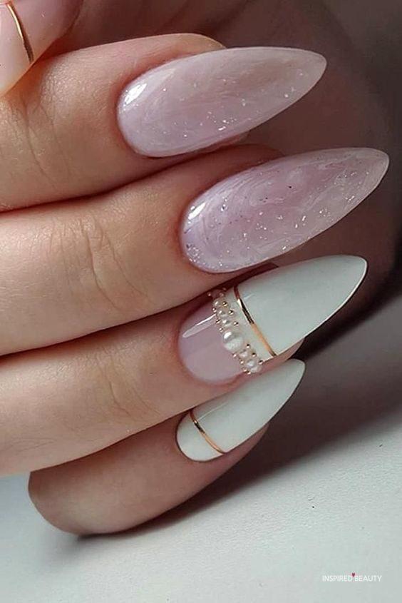 Wedding nail idea