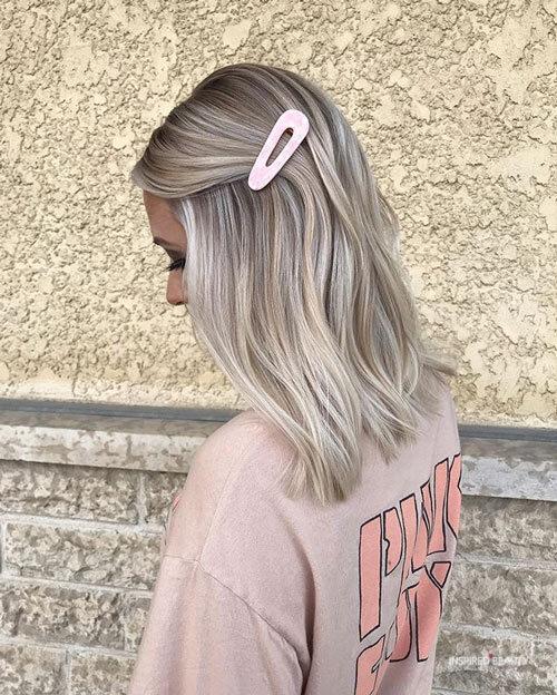 Balayage Hair Blonde Medium