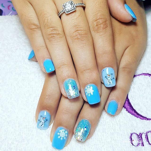 Frozen winter nails