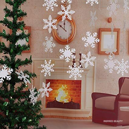 Winter Christmas Hanging Snowflake Decorations