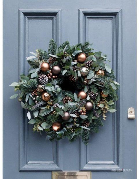 Christmas wreath for front door