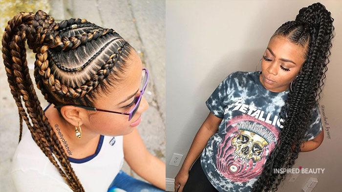 goddess braids ponytail