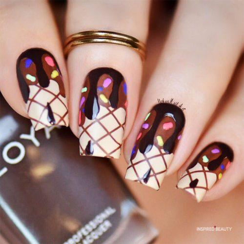 Ice Cream Cake - Nail Designs