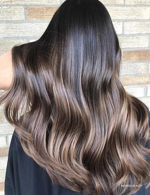 brown and black balayage