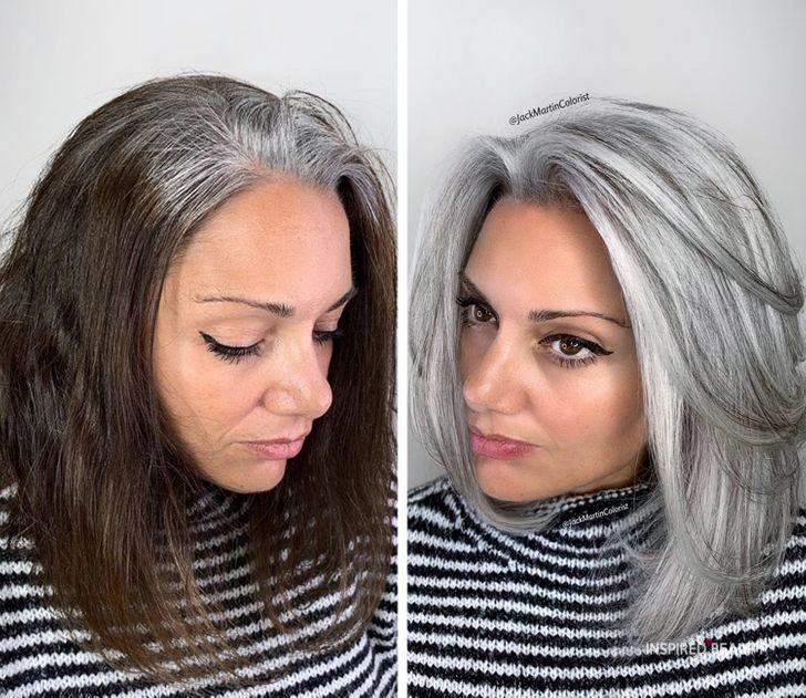 gray hair Transformations