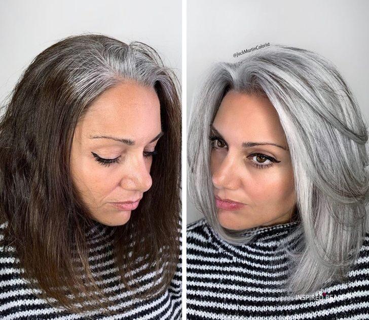 gray hair Transformations