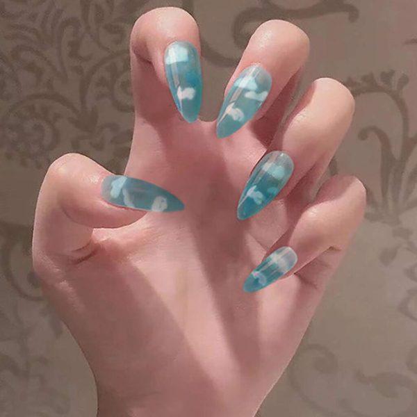 cloud fake nails acrylic