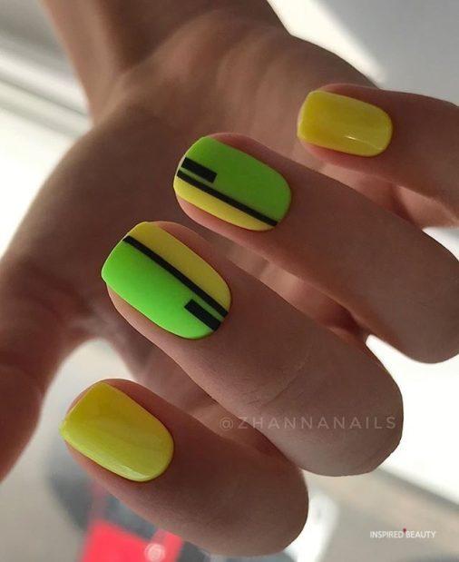 Short matte nails for summer