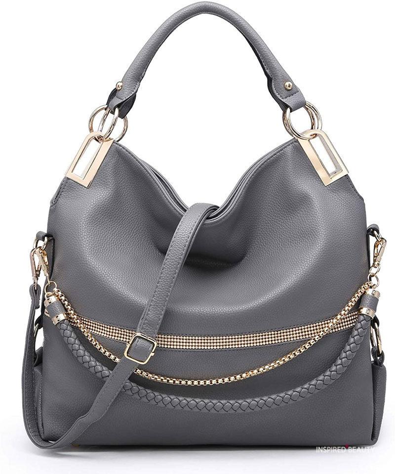 gray YSL Designer Bag dupes
