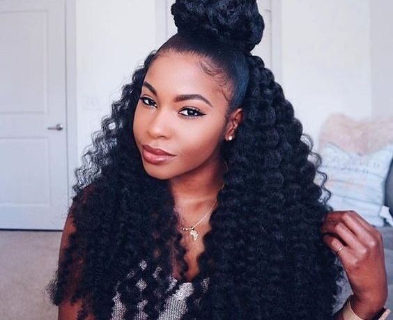 Half Up Half Down For Hairstyles For Naturals