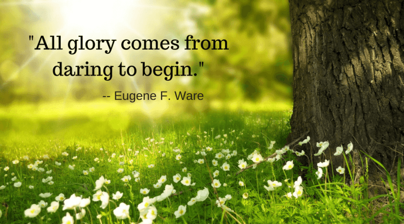 All Glory Come from Daring to Begin Quote
