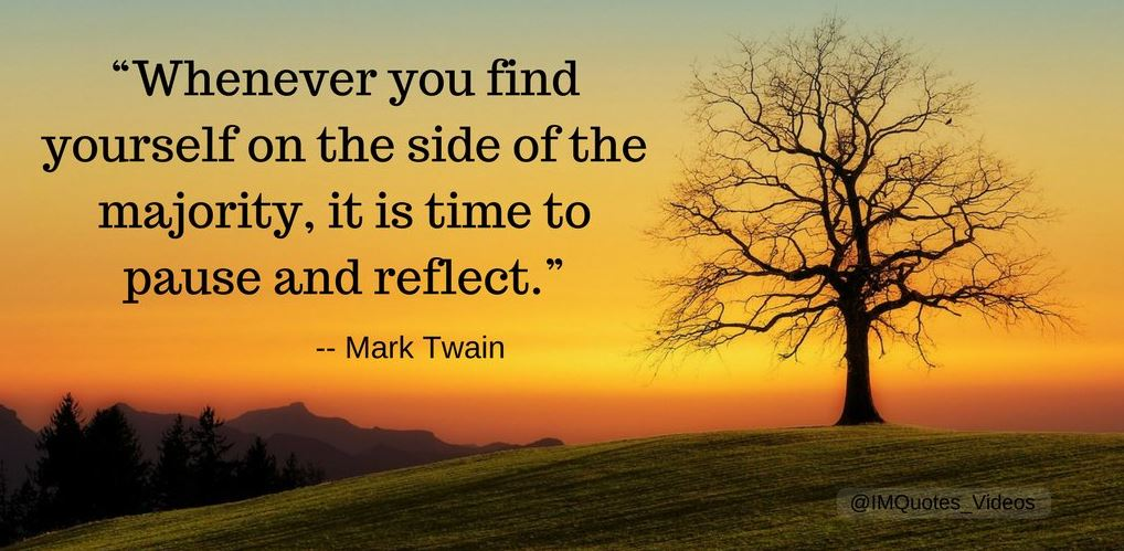 Mark Twain Quote - Pause and Reflect
