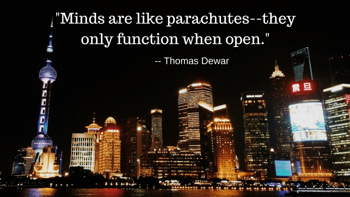 Open Mind Quote - Minds Are Like Parachutes