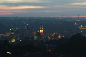 Вечірній Львів: панорама міста