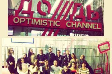 """Випускники школи у редакції телеканалу """"Дождь"""" (грудень, 2013)"""