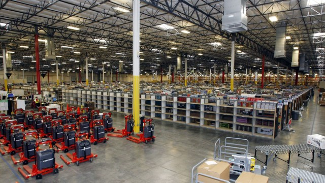 File image of merchandise at the Amazon Phoenix Fulfillment Center in Goodyear, Arizona