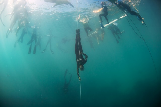 Vertical Blue Freediving event, Day 7 - competition