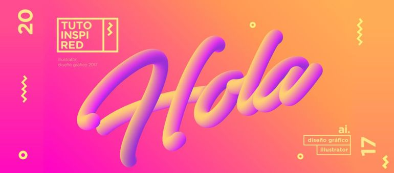 Crea Texto Neon 3D en Illustrator