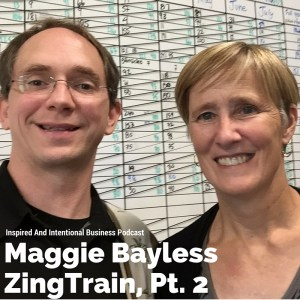 Todd Reed and Maggie Bayless at ZingTrain, Ann Arbor, MI