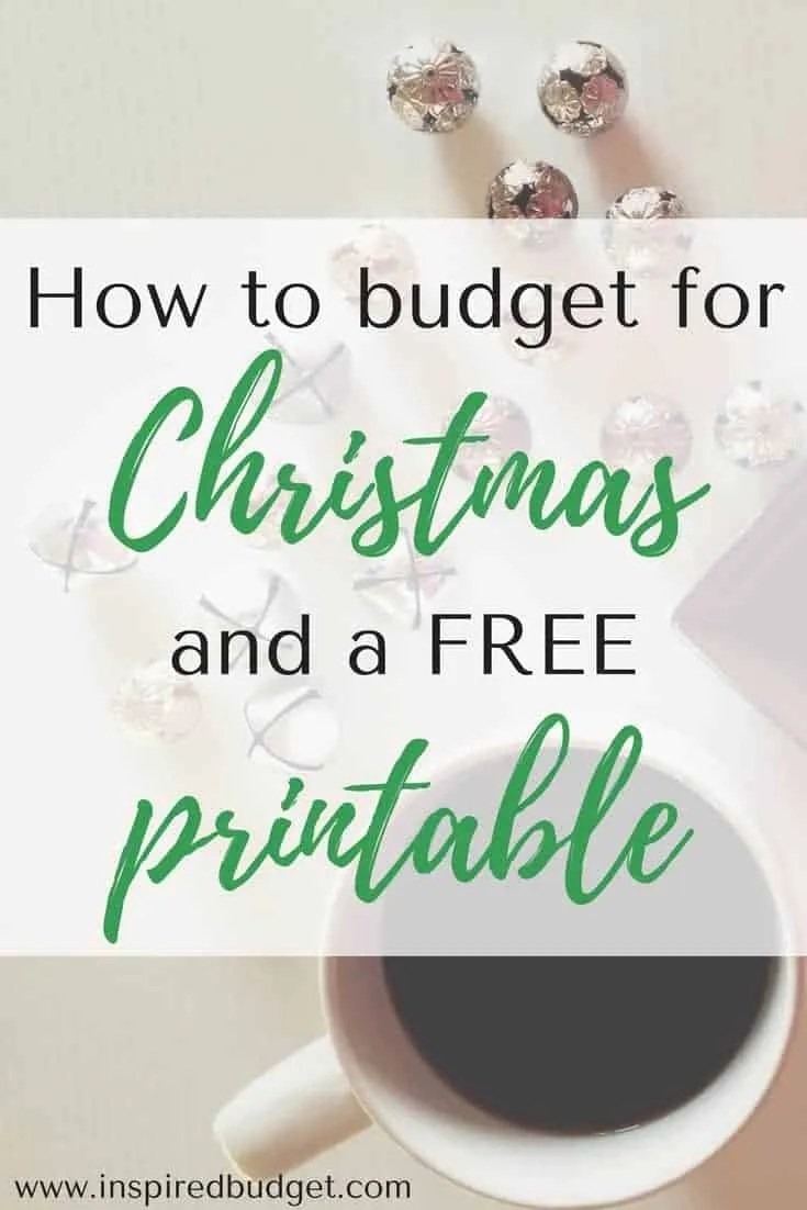 how to budget for Christmas by inspiredbudget.com