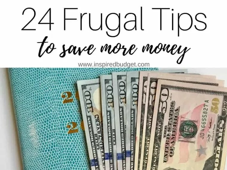 24 frugal tips to save more money by inspiredbudget.com