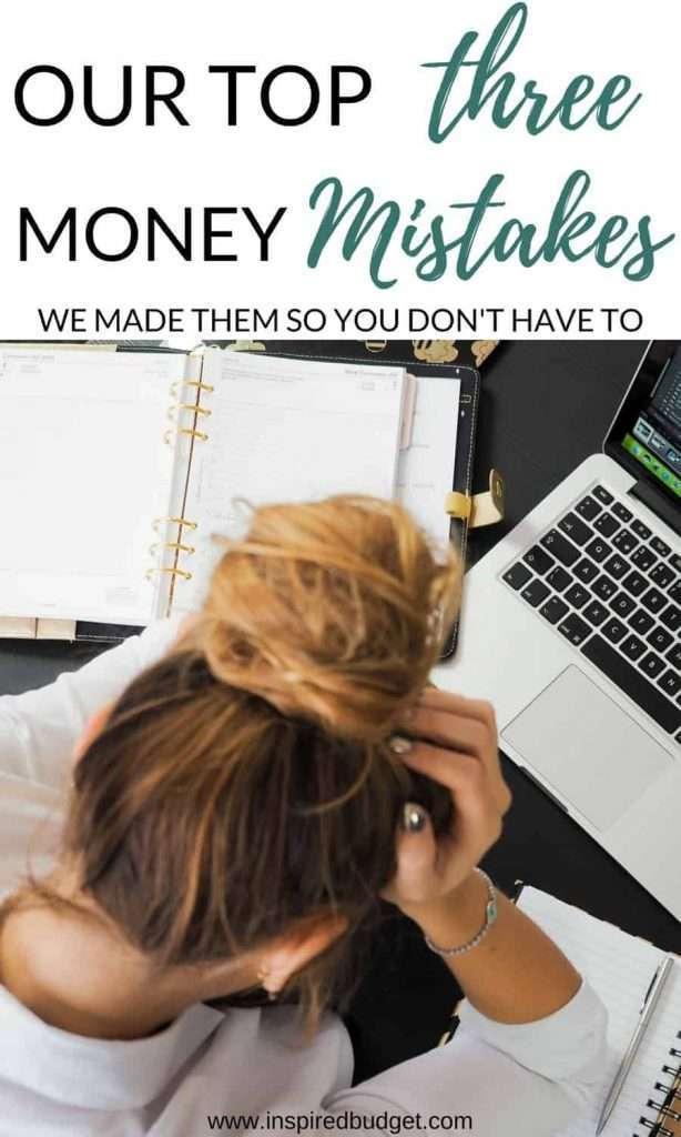 money mistakes by inspiredbudget.com